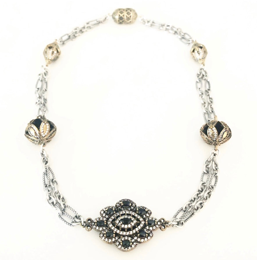 Heather Matjasic ohm jewelry shop sterling silver Turkish bead necklace