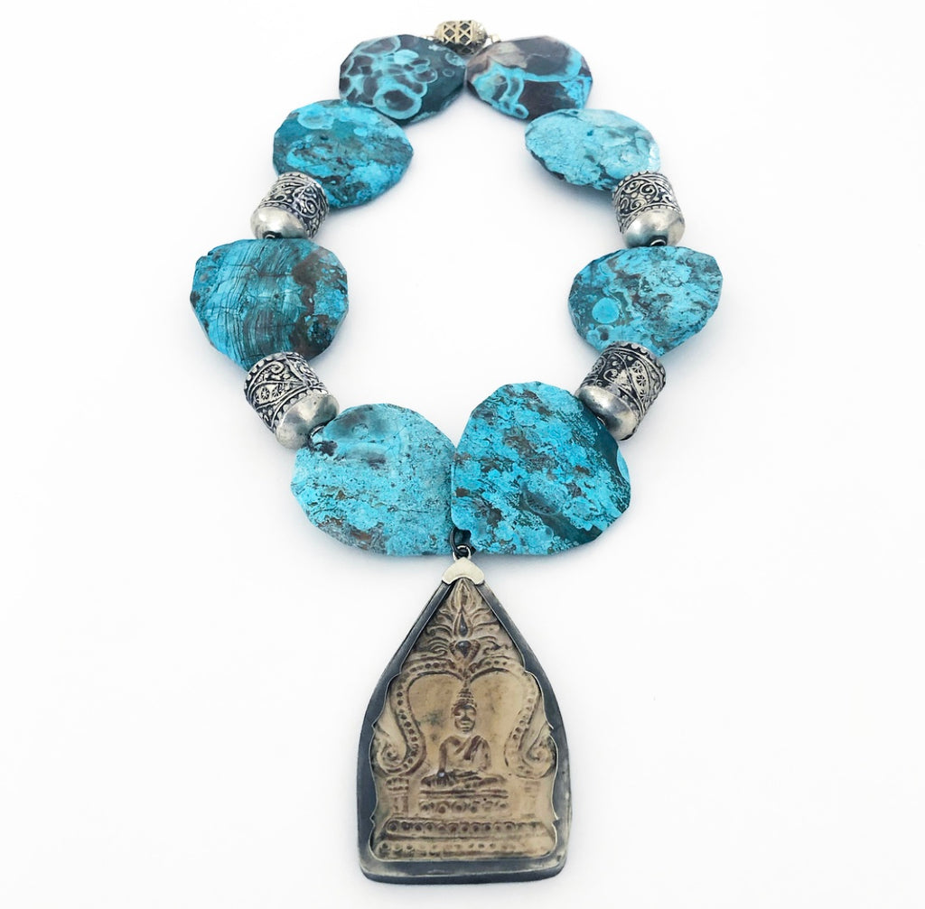Judith Liegeois Designs Heather Matjasic ohm jewelry shop Buddha necklace