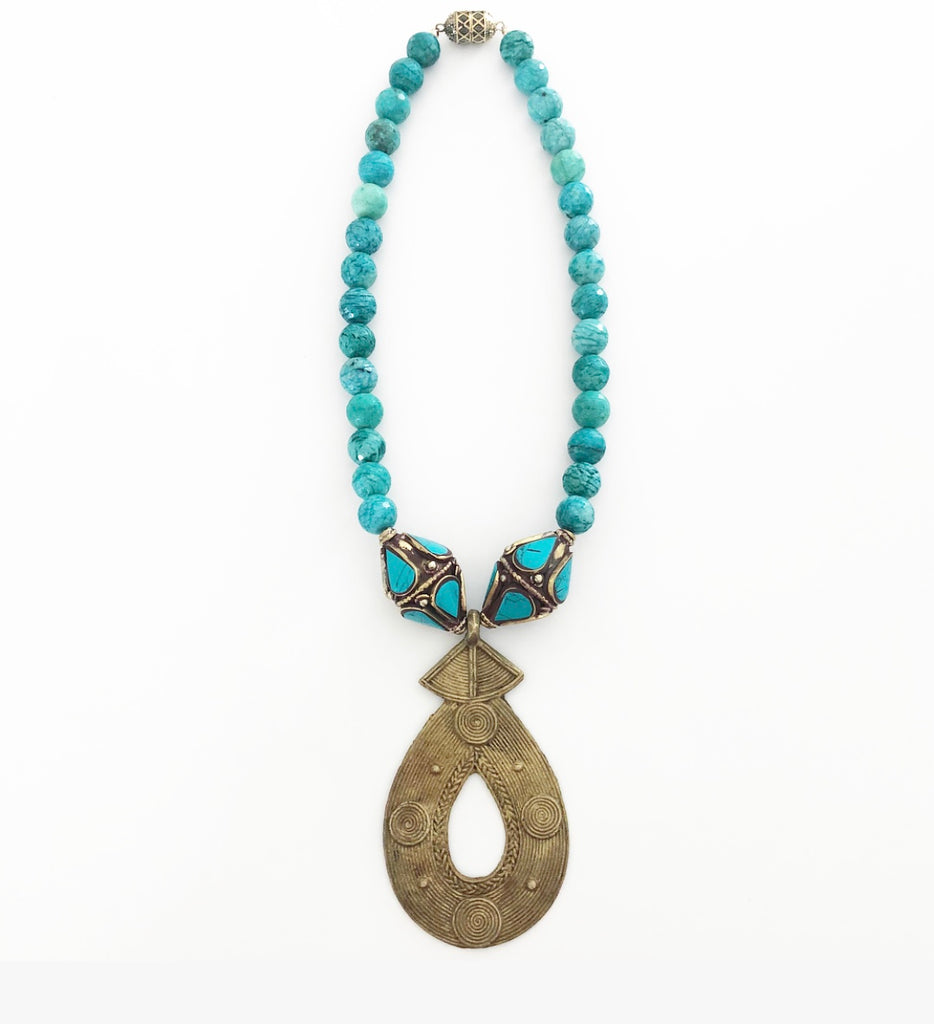 Judith Liegeois Designs Old Naples Heather Matjasic amazonite Tibetan African Turkish Necklace