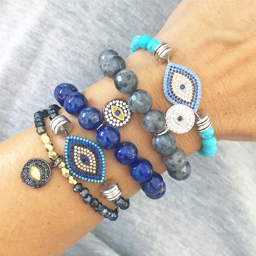 Heather Matjasic ohm jewelry shop turquoise evil eye bracelet naples florida