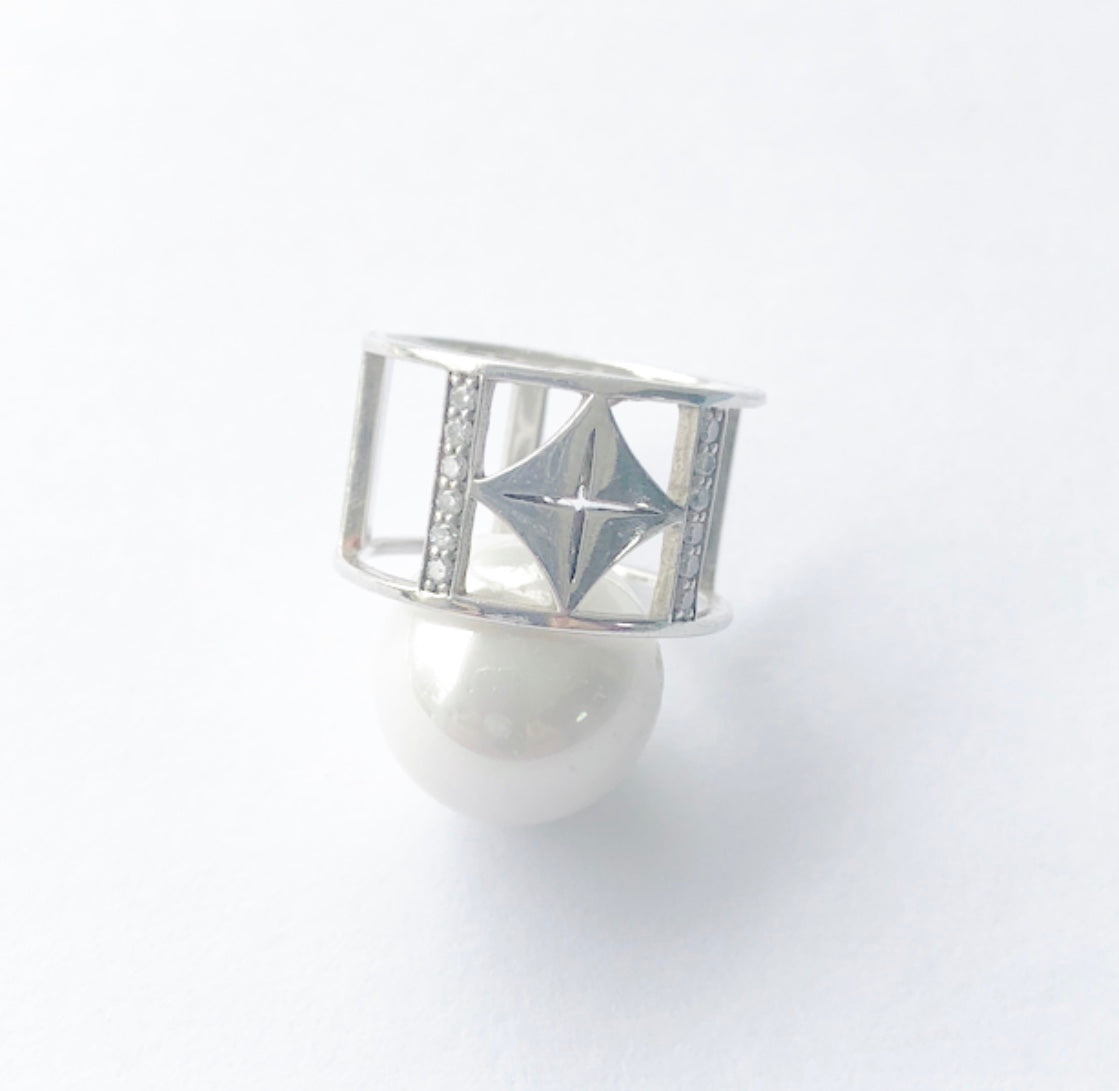 Heather Matjasic ohm jewelry diamond sterling silver ohm ring ohm exclusive collection naples florida