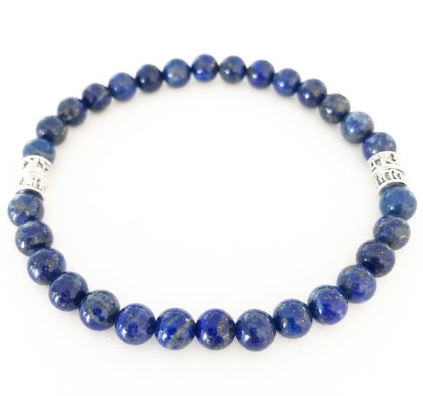 Heather Matjasic Lapis Lazuli Asian Kanji Bracelet Naples Florida ohm jewelry shop