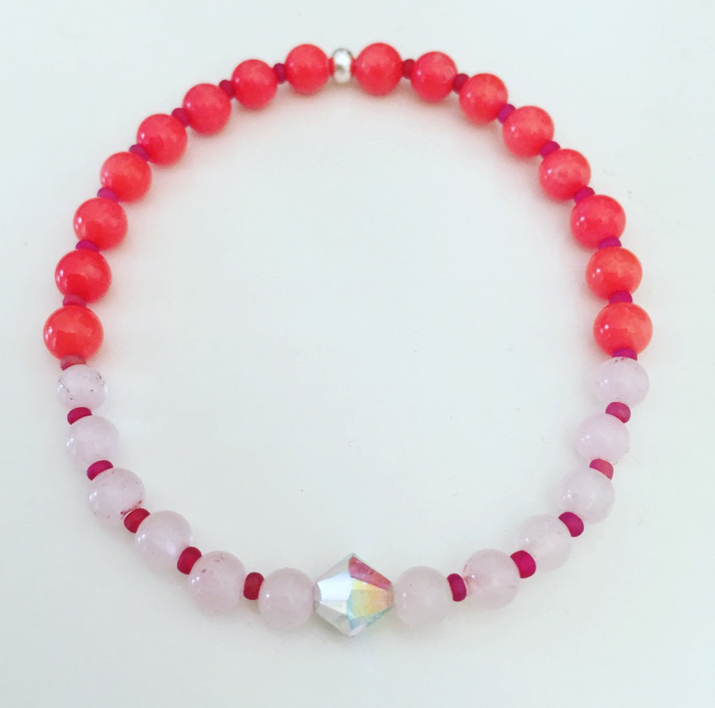 heather matjasic ohm jewelry shop coral rose quartz swarovski crystal