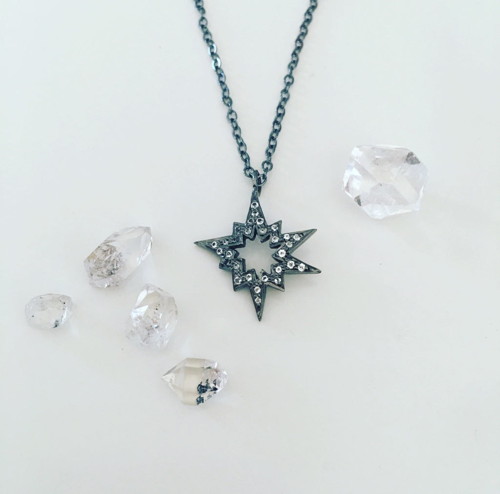 heather matjasic ohm jewelry shop caster sterling silver star pendant chain necklace