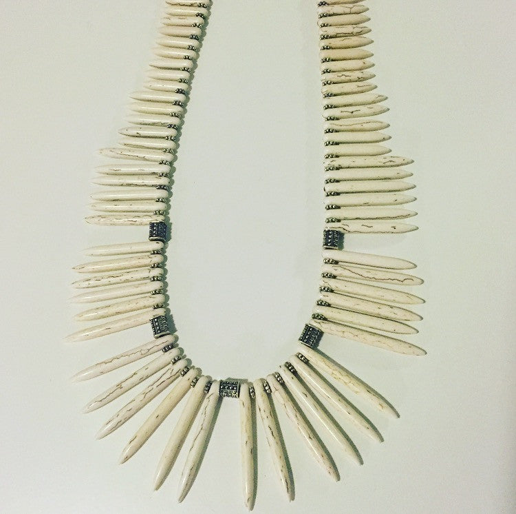 Wild Thang Howlite Tribal Necklace