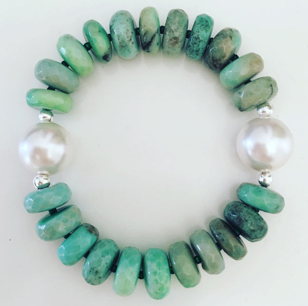 heather matjasic ohm jewelry shop green opal swarovski pearl