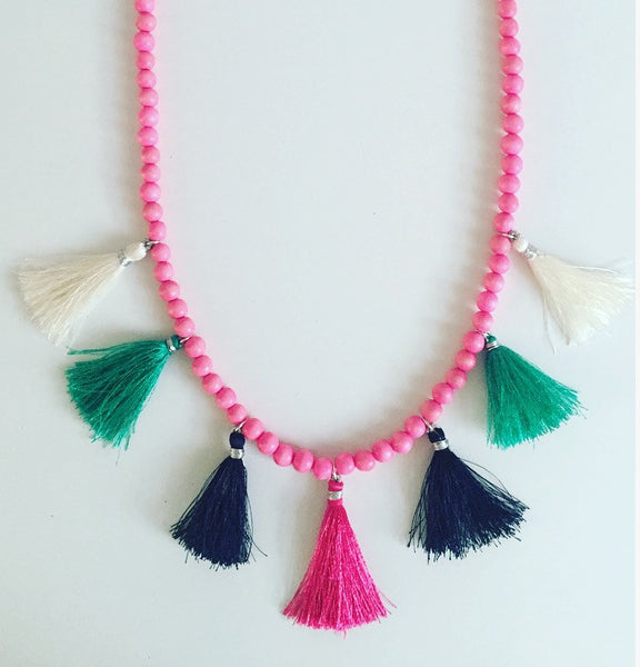Beach Babe Tassel Necklace - O.H.M. Jewelry by Heather Matjasic