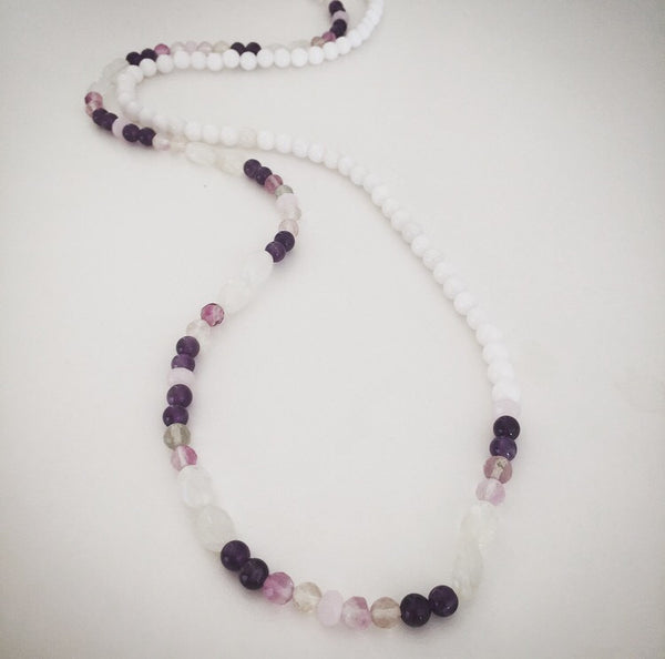 Crystal Color Block Necklace - O.H.M. Jewelry by Heather Matjasic