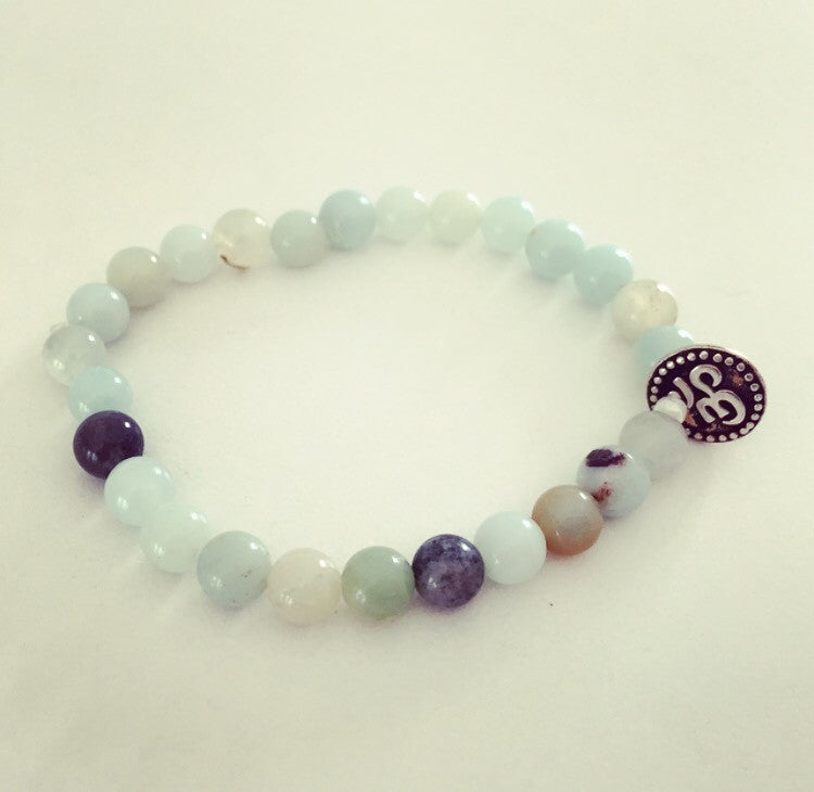 Amazonite Ohm Coin Bracelet - O.H.M. Jewelry by Heather Matjasic