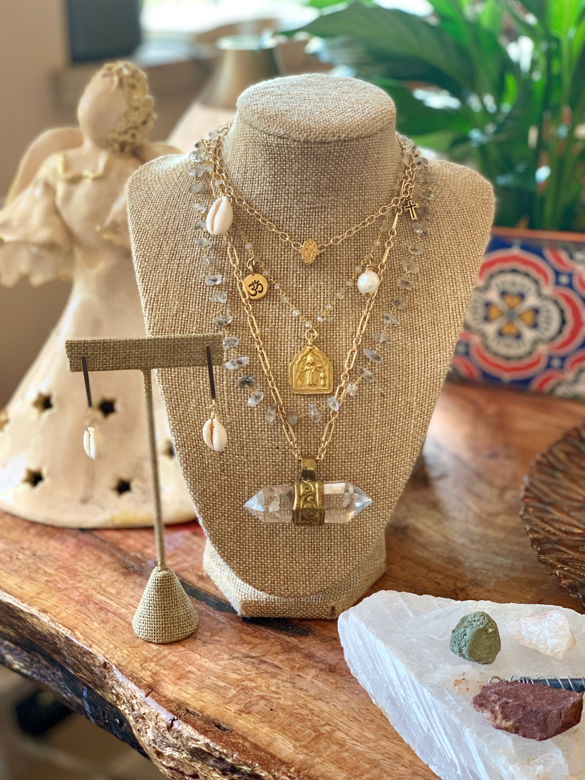 heather matjasic ohm jewelry shop gold silver shell earrings naples florida