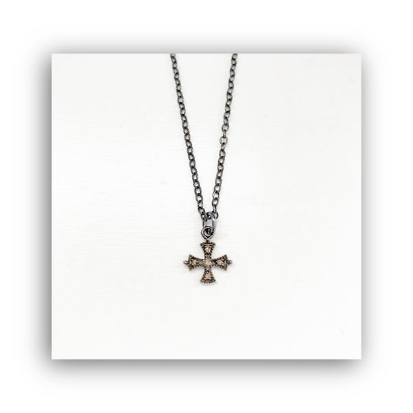 Heather Matjasic diamond cross sterling silver necklace chain naples florida ohm jewelry shop
