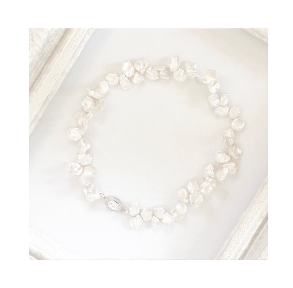 OHM Jewelry | ohmjewelryshop | Heather Matjasic | Keshi Pearl Necklace