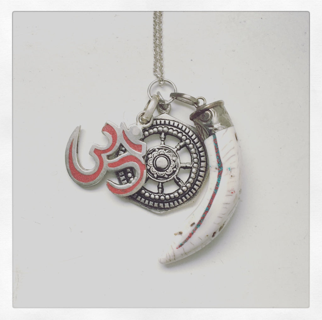 ohm jewelry heather matjasic o.h.m. jewelry tibetan charms necklace sterling silver
