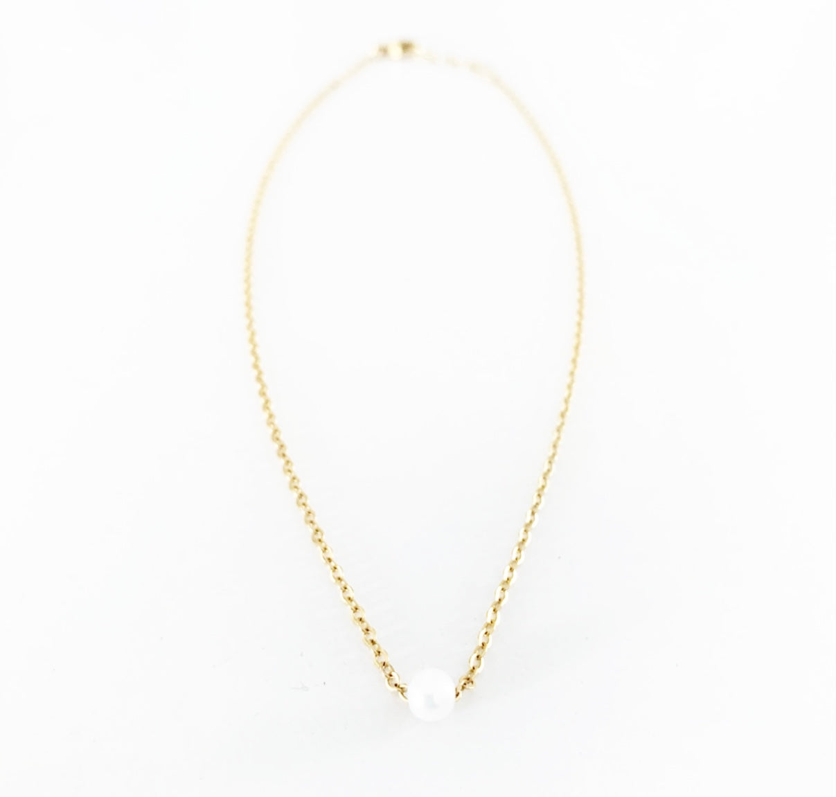 Heather Matjasic Ohm Jewelry Shop Dame Pearl Gold Necklace