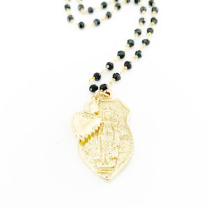 Bali Buddha & Sacred Heart Gemstone Necklace Heather Matjasic OHM Jewelry Shop
