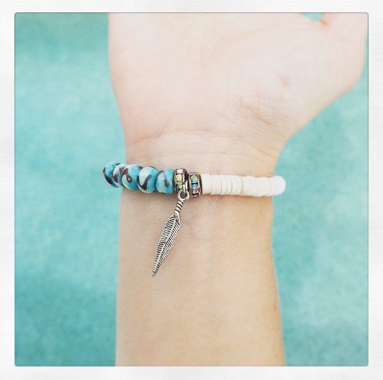 Spike & Feather Bracelet