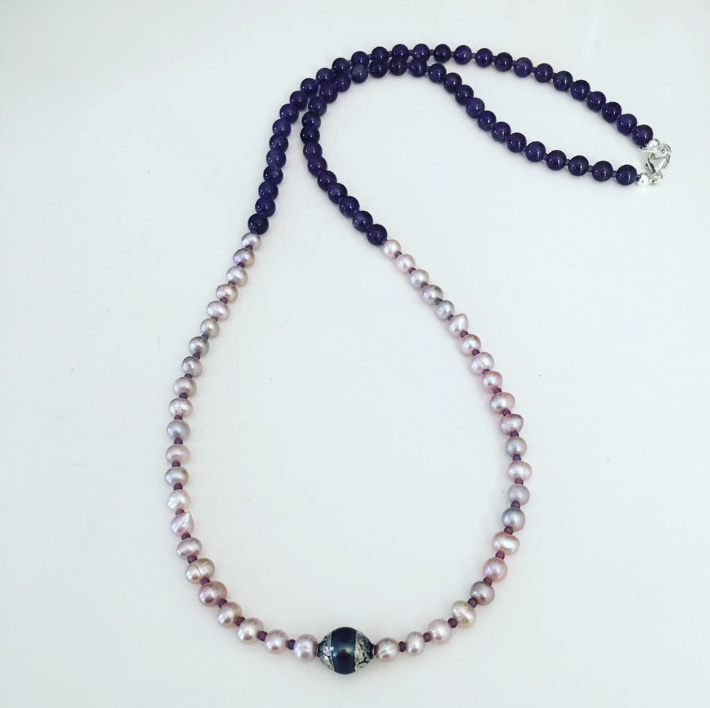 heather matjasic pink pearl amethyst necklace ohm jewelry shop