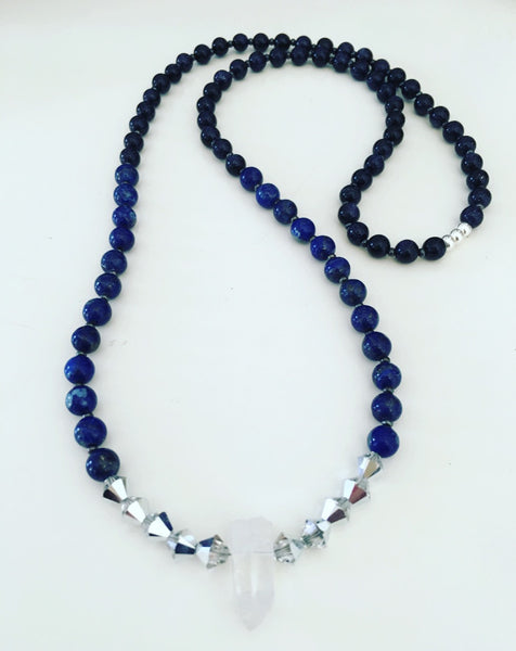 heather matjasic ohm jewelry shop lapis lazuli goldstone swarovski crystal quartz crystal