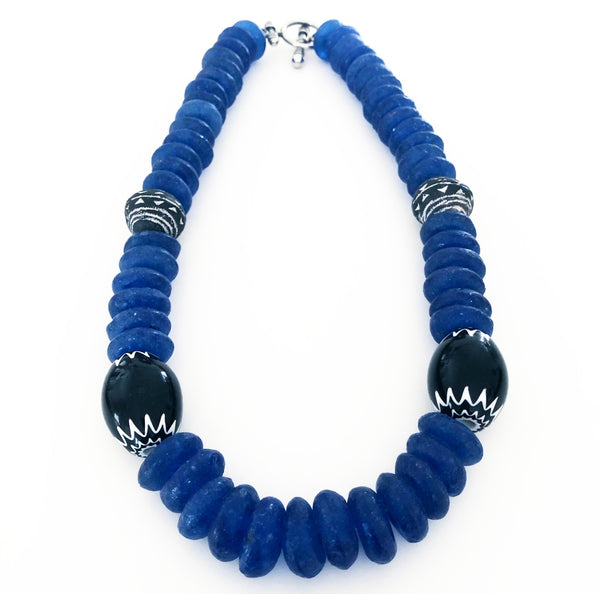 Heather Matjasic ohm jewelry shop naples florida african chevron mali bead necklace