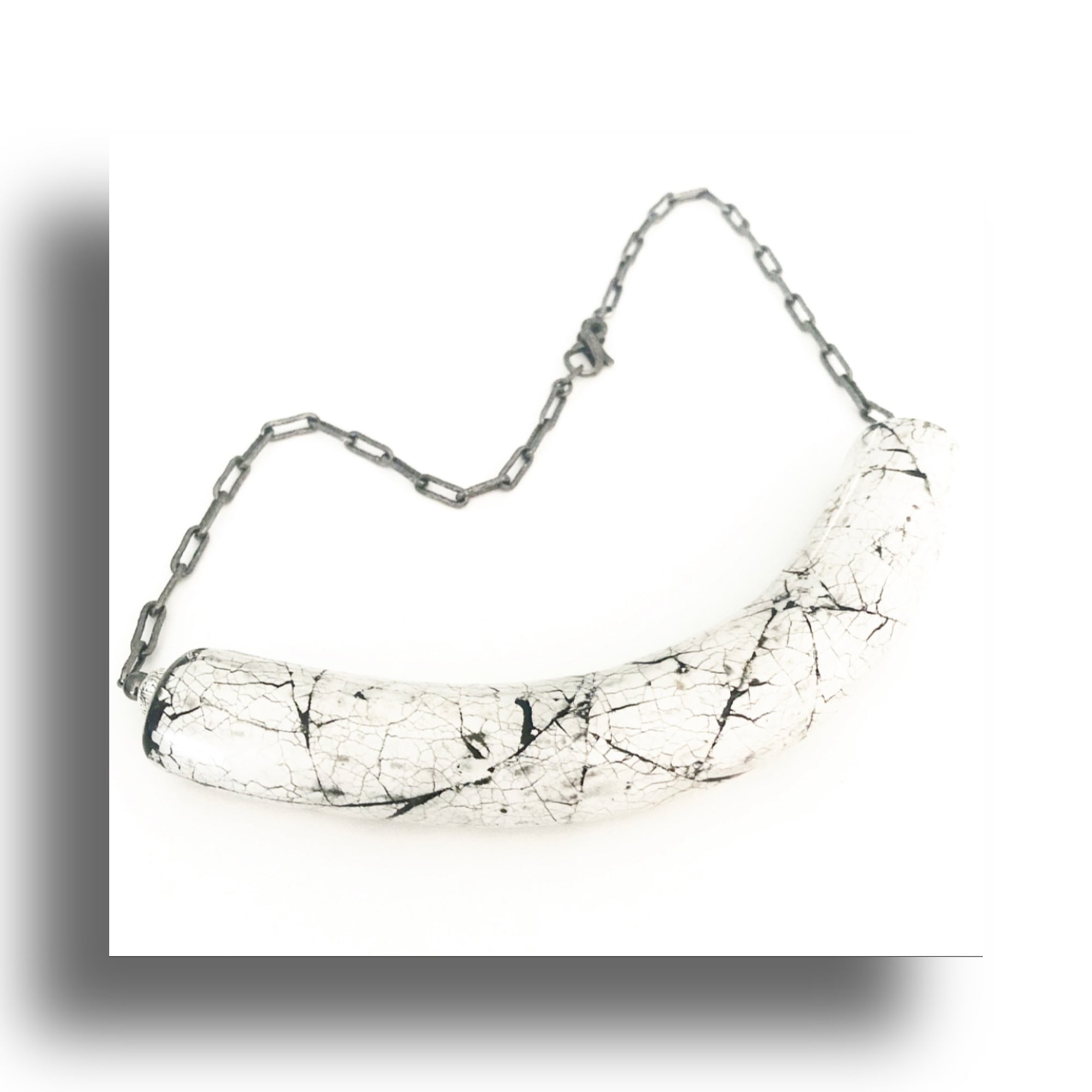 Heather Matjasic Diamond Clasp Sterling Silver Necklace Naples Florida