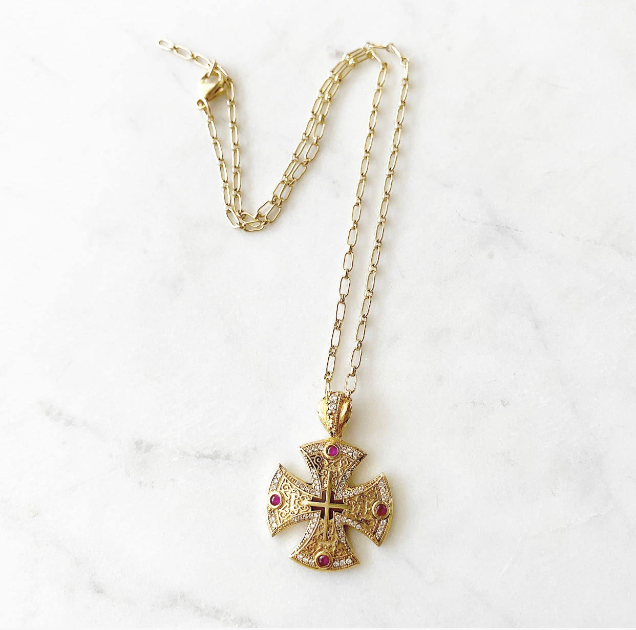 heather matjasic ohm jewelry shop gold sterling silver canterbury cross turkey usa florida gold necklace