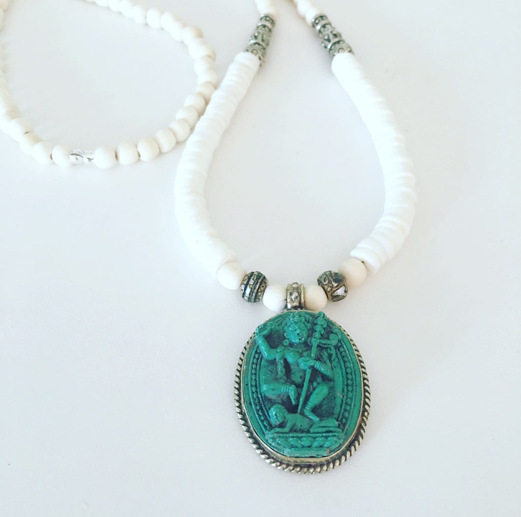 heather matjasic shell ohm mantra om mani padme hum ohm jewelry shop kali goddess necklace wood