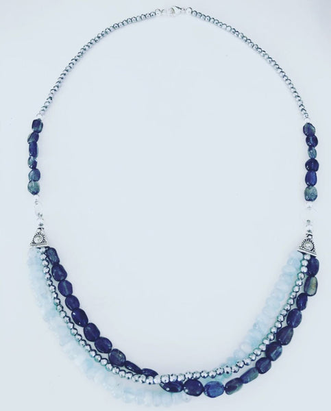 heather matjasic ohm jewelry shop hematite iolite aquamarine necklace