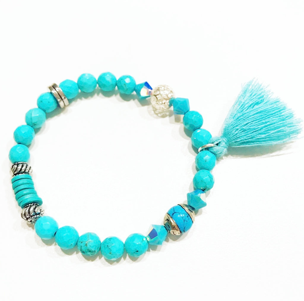 Heather Matjasic OHM Jewelry Shop Turquoise Bracelet India Greece Tibet