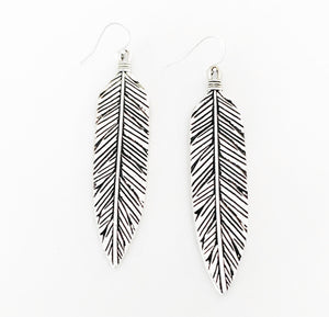 Prayer Feather Earrings