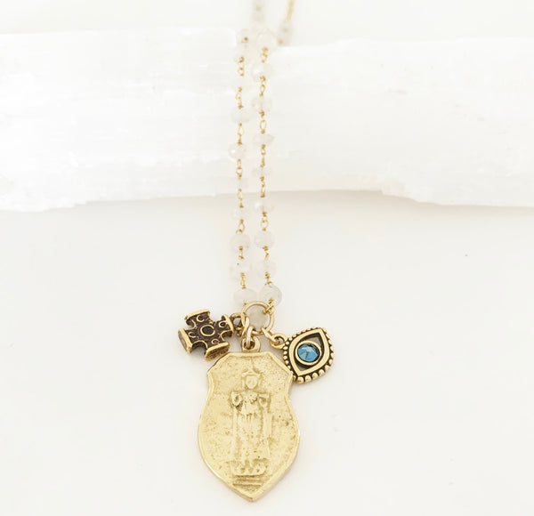 Spirit Junkie II Gold Moonstone Necklace