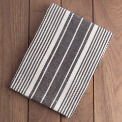 Cotton Dish Towel Black and White Striped