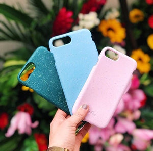 Compostable plant based phone cases.