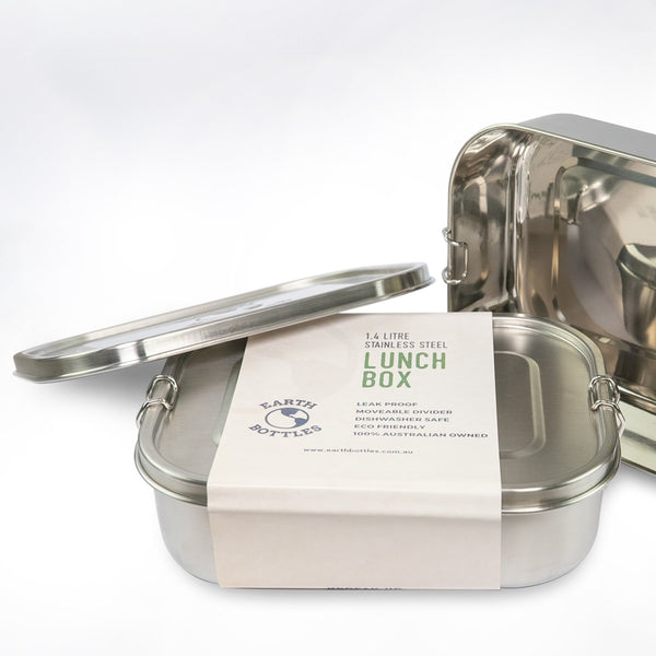 1.4 Litre Stainless Steel Lunch Box with removable divider