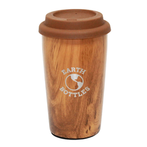 Earth Bottles stainless steel Coffee Nut Large - 16oz travel cup - Pale Timber