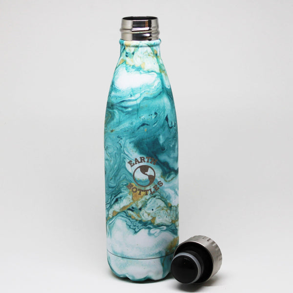 Earth Bottle Clean Ocean - Green Marble