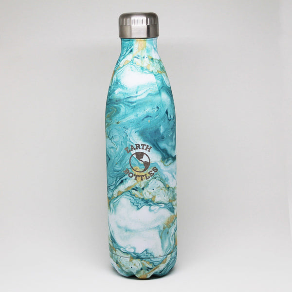 Earth Bottle Clean Ocean - Green Marble - WAREHOUSE SALE