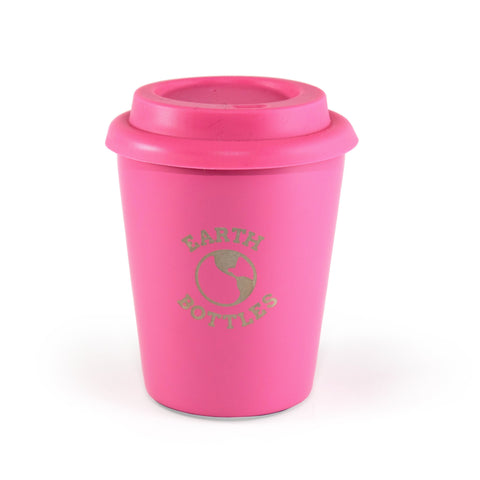 Earth Bottles stainless steel Coffee Nut 10oz Travel Cup - Pink