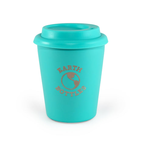 Earth Bottles stainless steel Coffee Nut 10oz Travel Cup - Turquoise