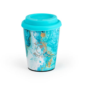 Earth Bottles stainless steel Coffee Nut 10oz Travel Cup - Marble Blue