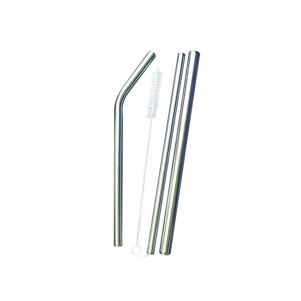 Stainless Steel Straws - Set of 3 - WAREHOUSE SALE