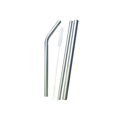 Earth Bottles Stainless Steel Straws - Set of 3