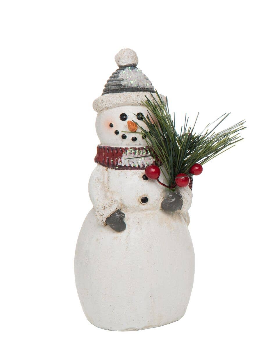 Transpac - Small Resin Traditional Snowman Figurine