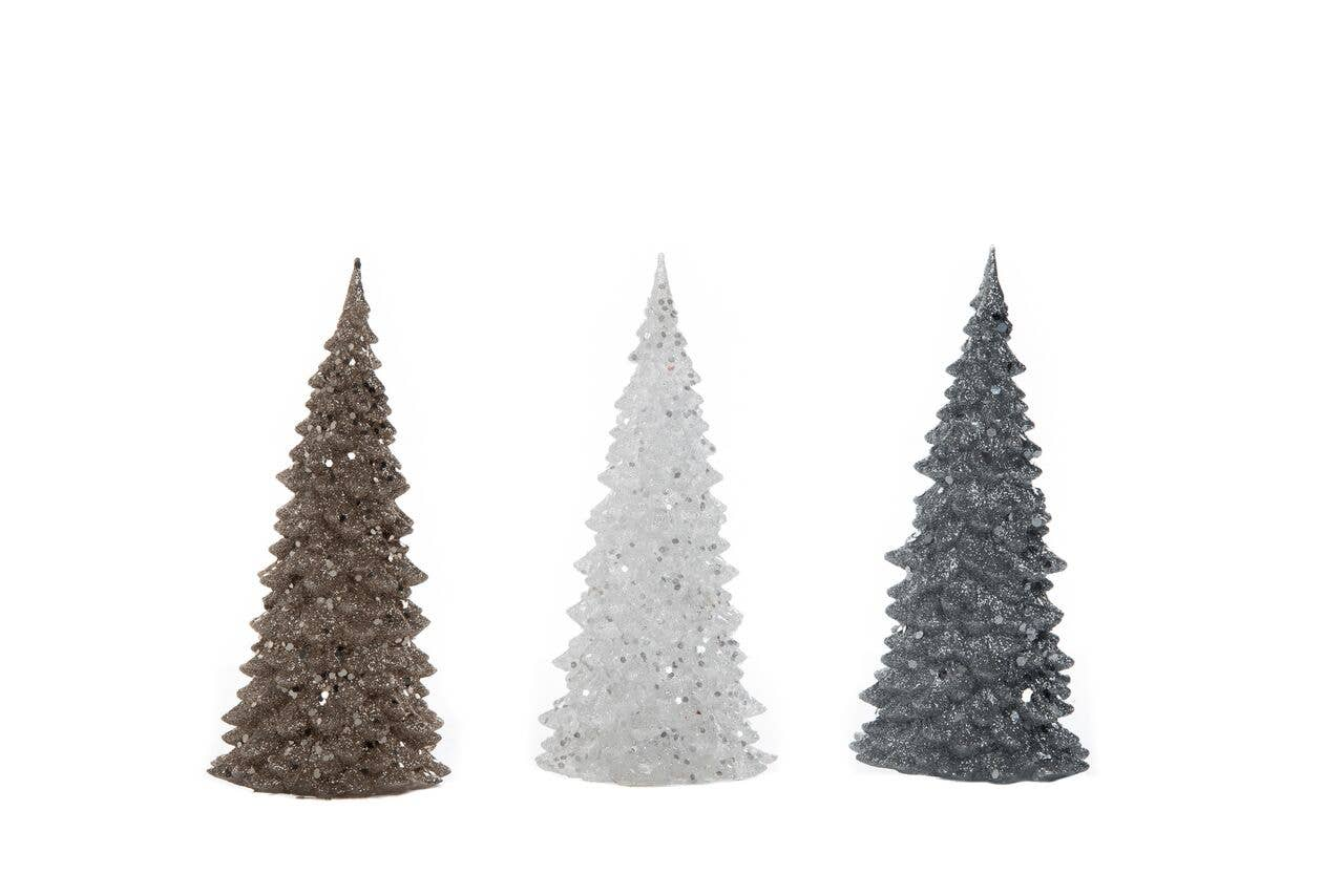 Transpac - Small Acrylic Light Up Christmas Tree Set Of 3