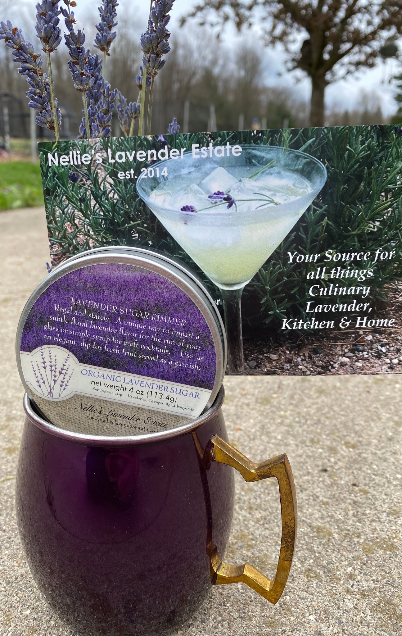 Lavender Sugar Moscow Mule