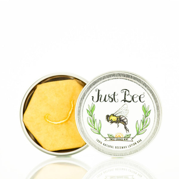 Just Bee Cosmetics - Lotion Bar - Sweet Orange Mint Box