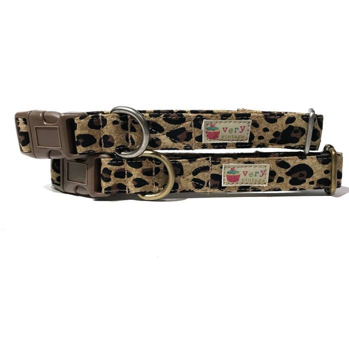 Very Vintage Designs - Wild Thing - Organic Cotton Pet (Dog & Cat) Collar