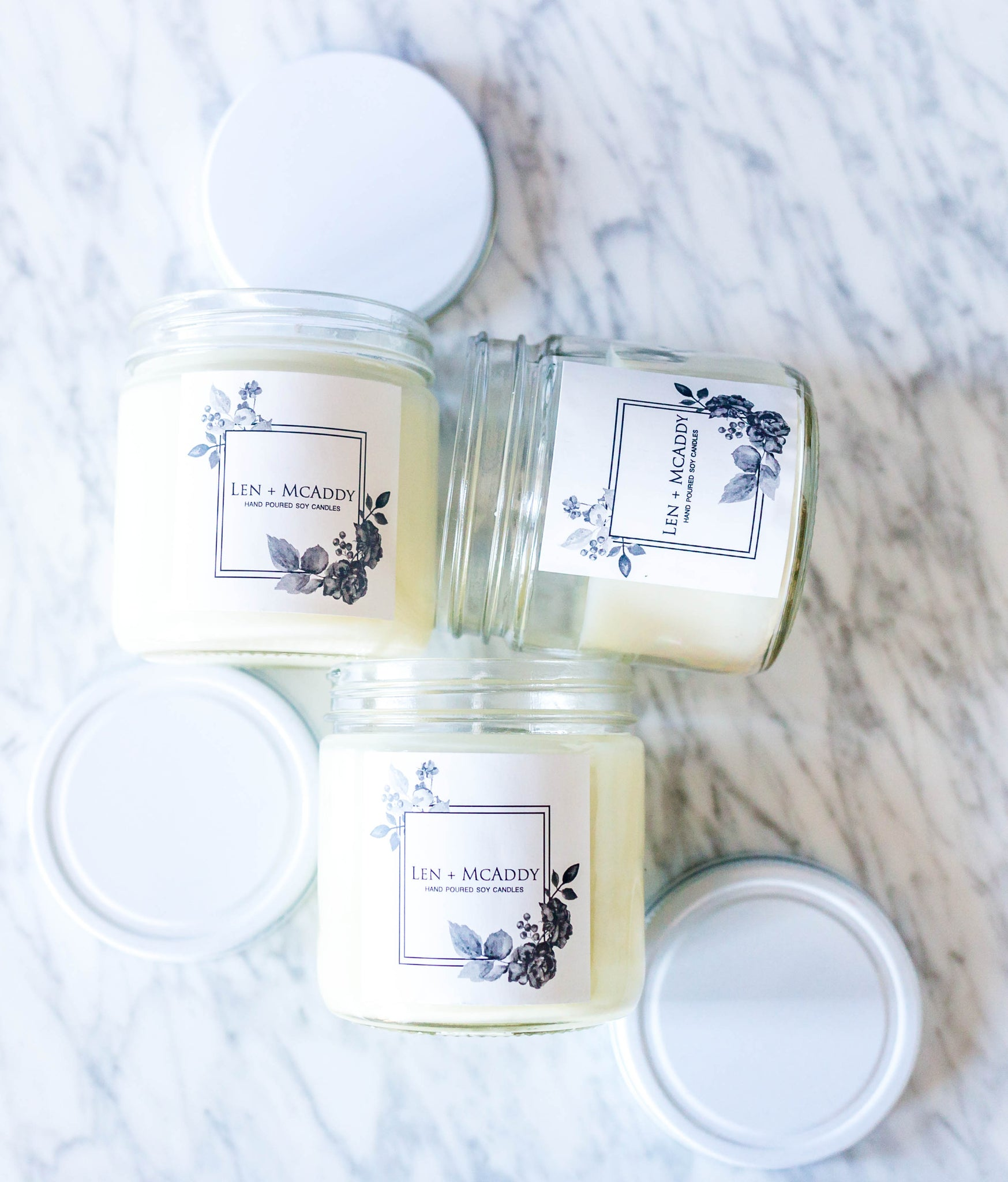 Len + McAddy Candles  - Sandalwood Soy Wax Candle