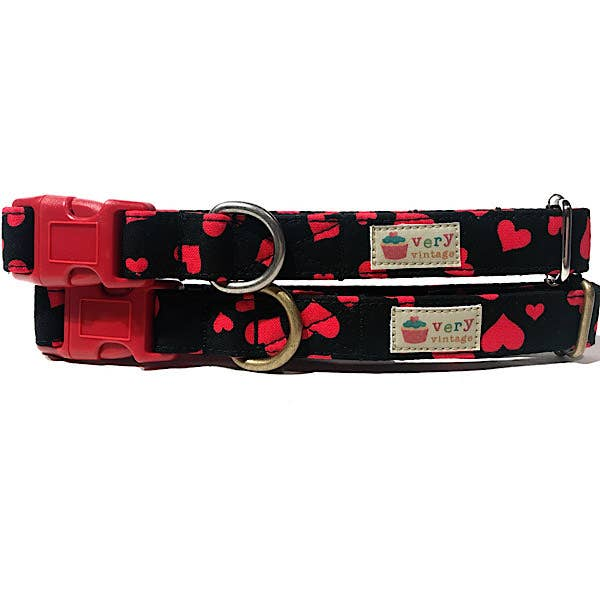 Very Vintage Designs - Hot Stuff - Organic Cotton Pet (Dog & Cat) Collar