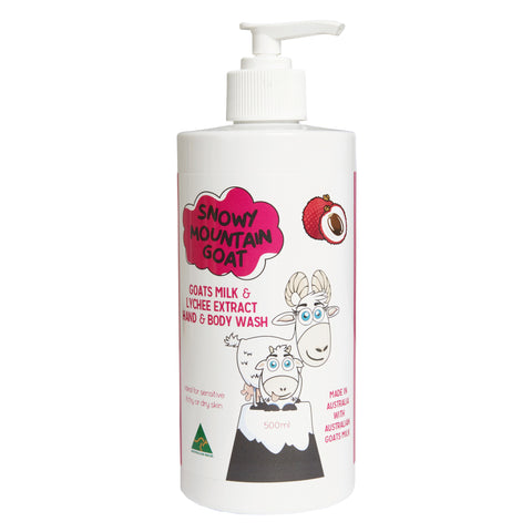 Australian Goats Milk and Lychee Extract 500ml Hand & Body Wash