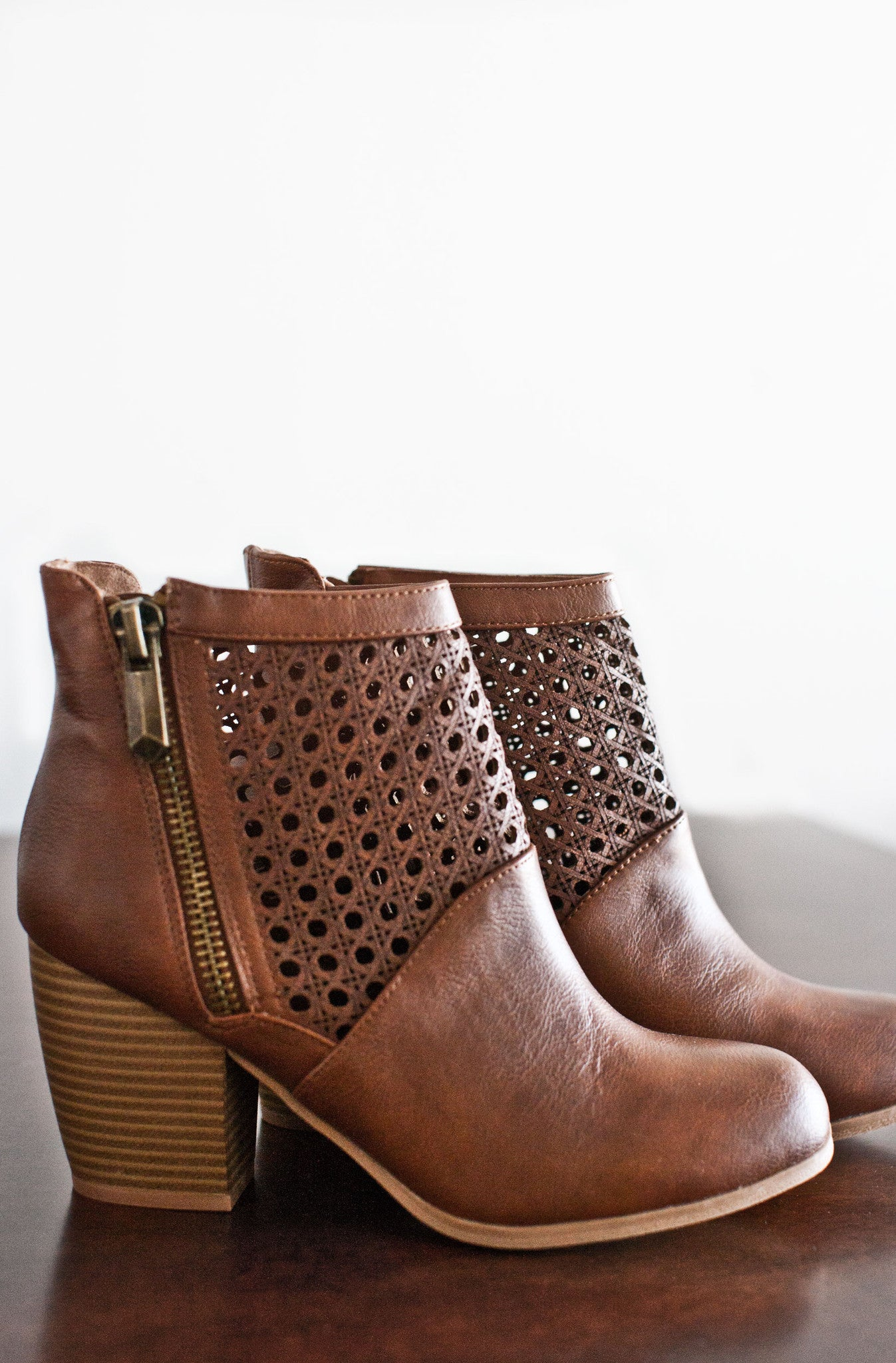 Emerson Ankle Booties-Cognac  096d1d4d226